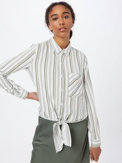 Hailys Bluse 'Coraly' in khaki / weiß, Modelansicht