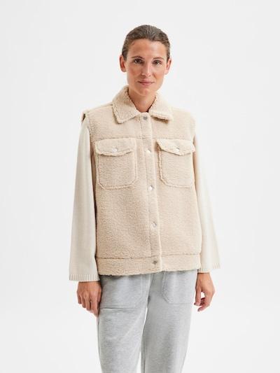 SELECTED FEMME Vest 'Jany' in Beige, View model