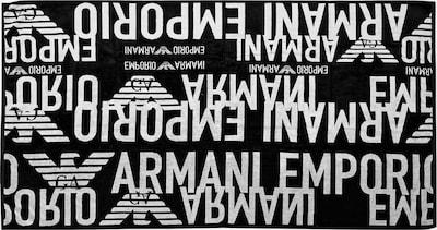 Emporio Armani Handdoek in de kleur Ecru / Zwart, Productweergave
