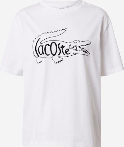LACOSTE T-shirt en noir / blanc, Vue avec produit