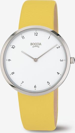 Boccia Titanium Analoguhr in gelb / silber, Produktansicht