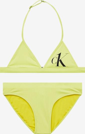 Calvin Klein Swimwear Bikini in hellgrün / schwarz, Produktansicht