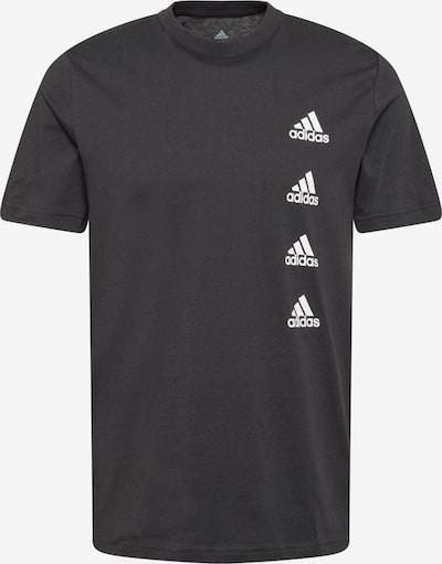 ADIDAS PERFORMANCE T-Shirt fonctionnel en noir / blanc, Vue avec produit