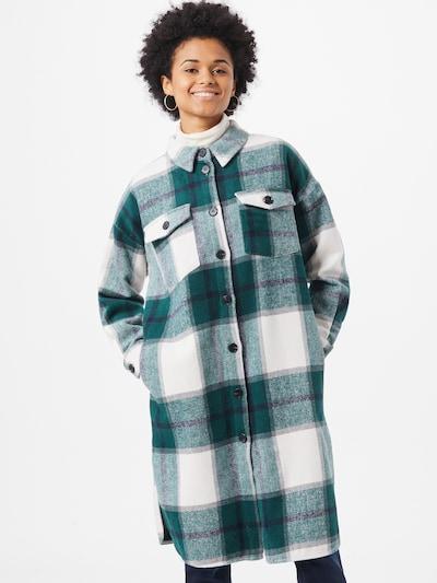 Rudeninis-žieminis paltas 'IXKIMMIE' iš ICHI , spalva - pilka / žalia / balta: Vaizdas iš priekio
