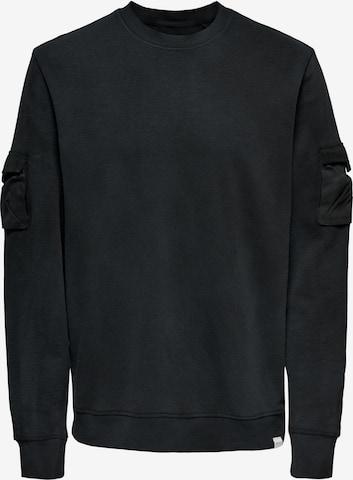 Only & Sons Sweatshirt 'Nino' in Schwarz