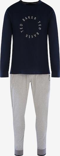 Ted Baker Pyjama ' Langarm Round Logo ' in dunkelblau / grau, Produktansicht