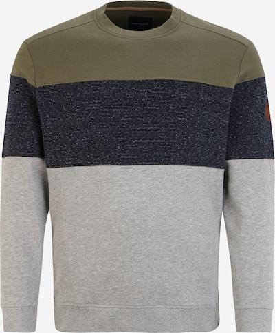 TOM TAILOR Men + Sportisks džemperis, krāsa - tumši zils / raibi pelēks / olīvzaļš, Preces skats