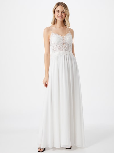 Rochie de seară mascara pe alb, Vizualizare model