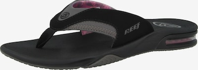REEF Strandschuh 'Fanning' in grau / schwarz, Produktansicht