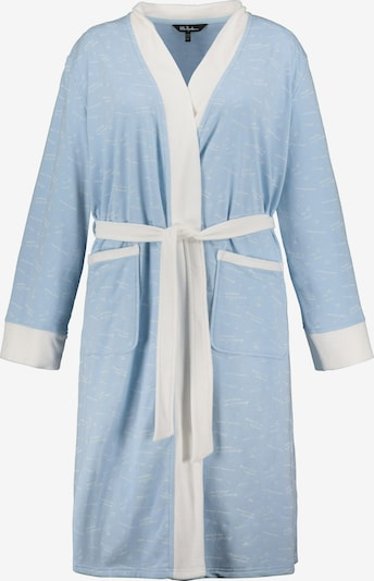 Ulla Popken Albornoz largo en azul pastel / blanco, Vista del producto