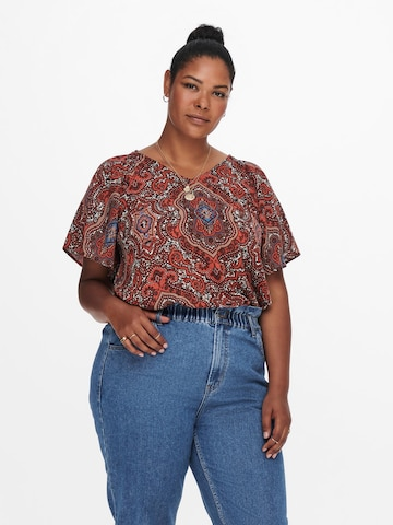 ONLY Carmakoma Bluse in Braun