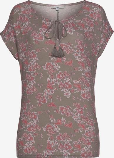 TAMARIS Shirt in Greige / Light grey / Pastel red, Item view