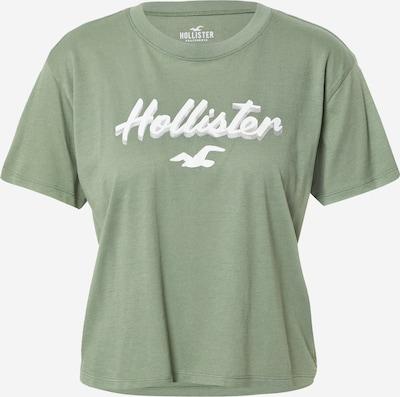 HOLLISTER Shirt in grün / weiß, Produktansicht