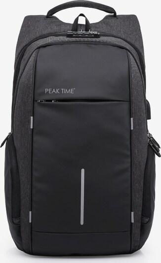 Peak Time Tagesrucksack in schwarz, Produktansicht