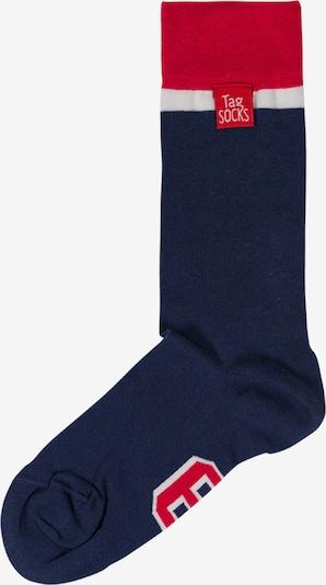 Tag SOCKS Sokken in de kleur Nachtblauw / Rood / Wit, Productweergave