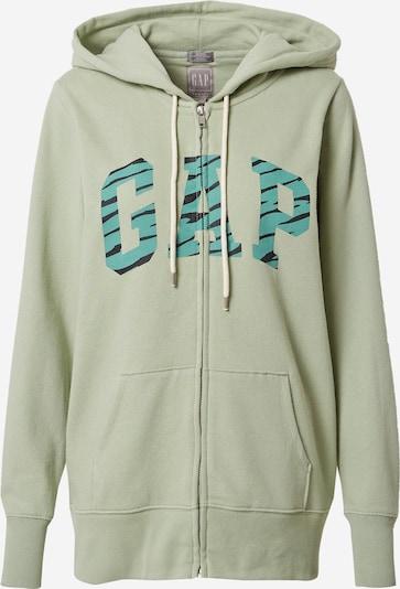 GAP Bluza rozpinana w kolorze nefryt / jasnozielony / czarnym, Podgląd produktu