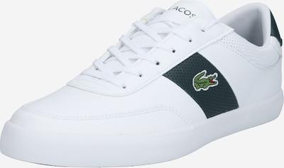 LACOSTE Baskets basses 'COURT-MASTER' en vert foncé / blanc, Vue avec produit