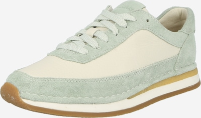 CLARKS Sneakers low 'CraftRun Lace' in Cream / Mint, Item view