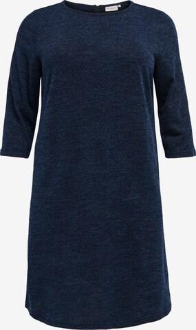 ONLY Carmakoma Gebreide jurk 'Martha' in Blauw