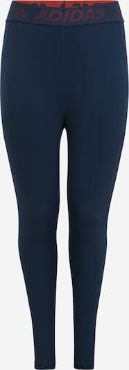 ADIDAS PERFORMANCE Leggings en azul oscuro / rojo, Vista del producto