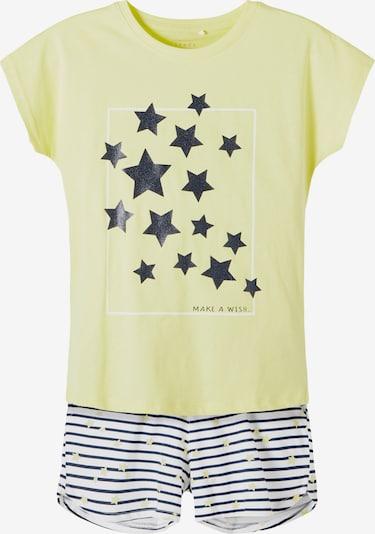 NAME IT Set 'Vigea' in de kleur Geel / Zwart / Wit, Productweergave