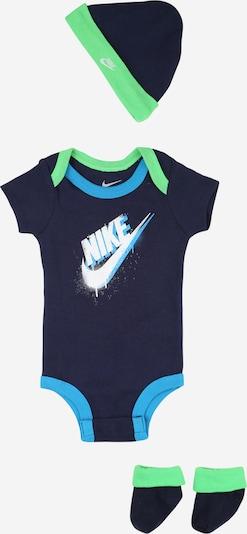 Nike Sportswear Set in navy / cyanblau / neongrün / weiß, Produktansicht