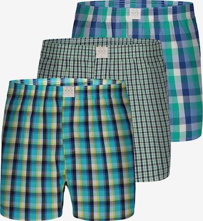 MG-1 Boxershorts ' Checks ' in de kleur Blauw / Groen, Productweergave