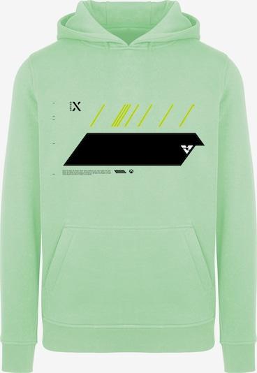 ABOUT YOU x XBOX Sweatshirt 'X Future' in goldgelb / mint / schwarz / weiß, Produktansicht