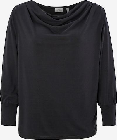 s.Oliver BLACK LABEL Shirt in schwarz, Produktansicht