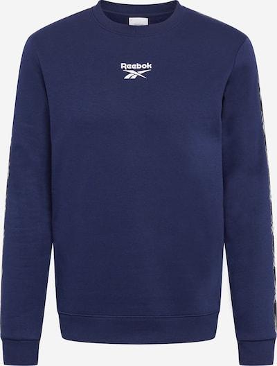 REEBOK Sportiska tipa džemperis naktszils / balts, Preces skats