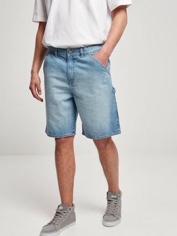 Urban Classics Klapptaskutega teksapüksid, värv sinine