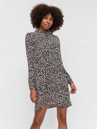 VERO MODA Kleid in creme / altrosa / schwarz, Modelansicht