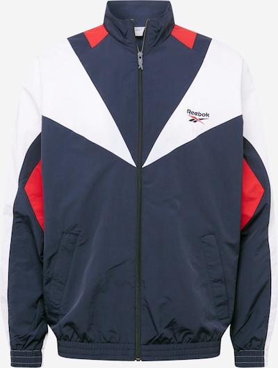 REEBOK Športová bunda 'Twin Vector' - tmavomodrá / červená / biela, Produkt