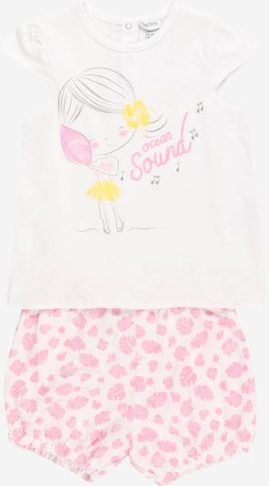 OVS Nachtkledij in de kleur Geel / Pink / Zwart / Wit, Productweergave