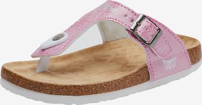 myToys-COLLECTION Zehentrenner 'O-Sandra' in pink / weiß, Produktansicht