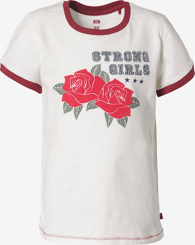 WE Fashion T-shirt in blau / grün / rot / rubinrot / weiß, Produktansicht