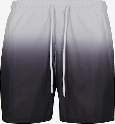 Urban Classics Badeshorts ' Dip Dye Swim Shorts ' in grau / schwarz / weiß, Produktansicht