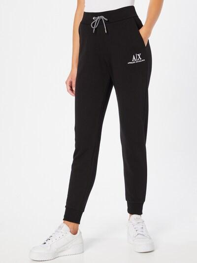 ARMANI EXCHANGE Hose in schwarz / weiß, Modelansicht