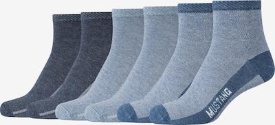 MUSTANG Kurzsocken 'Abigail' im 6er-Pack in blue denim / dunkelblau, Produktansicht