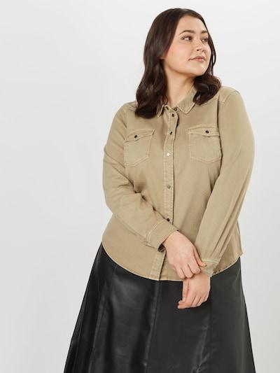 Vero Moda Curve Blouse 'MARIA' in de kleur Cappuccino, Modelweergave