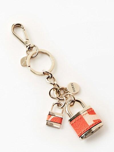 GUESS Schlüsselanhänger in gold / orange, Produktansicht