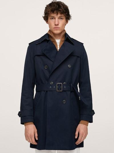 MANGO MAN Overgangsfrakke i navy, Modelvisning