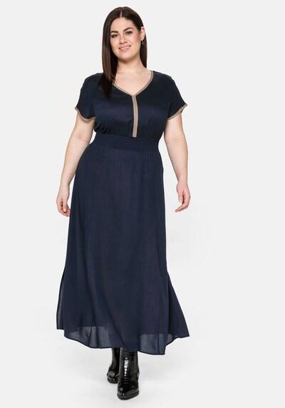 SHEEGO Kleid in nachtblau / braun, Modelansicht