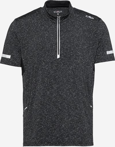 Tricou funcțional CMP pe negru amestecat / alb, Vizualizare produs