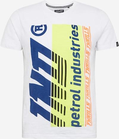 Petrol Industries Tričko - námořnická modř / svítivě žlutá / oranžová / bílá, Produkt