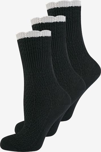 ELBEO Damensocken '3-Pack Vintage Chic' in schwarz / naturweiß, Produktansicht