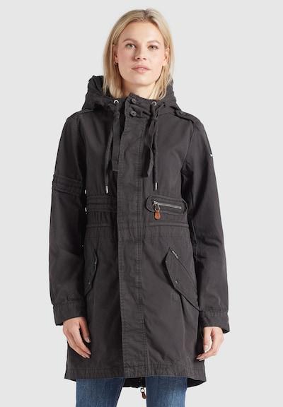 khujo Mantel 'Banele' in schwarz, Modelansicht