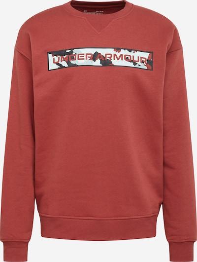 UNDER ARMOUR Sportsweatshirt 'Rival' in de kleur Lichtgrijs / Pastelrood / Zwart / Wit, Productweergave