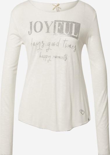 Key Largo Majica 'JOYFUL' u srebro / prljavo bijela, Pregled proizvoda
