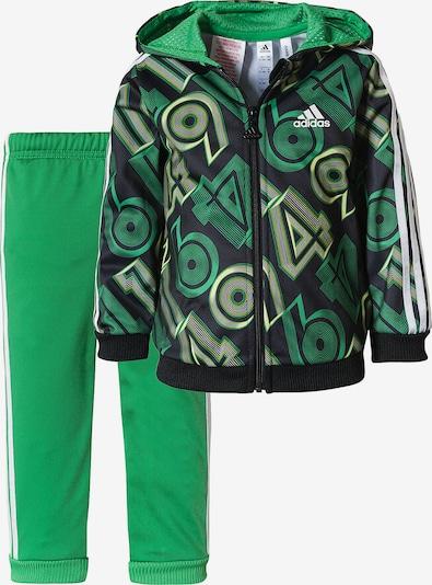 ADIDAS PERFORMANCE Trainingsanzug 'Shiny 49' in gelb / grün / schwarz / weiß, Produktansicht